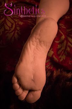 Sinthetics male doll foot - silicone, life size