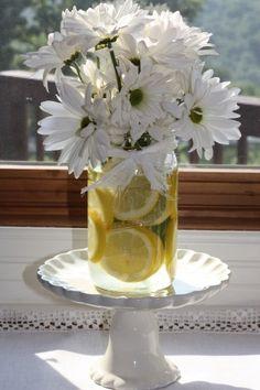floral centerpieces, summer centerpieces, white flowers, diy wedding decorations, flower centerpieces