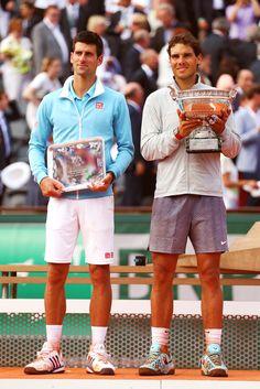 Rafa Nadal and Novak Djokovic