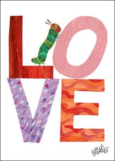 """""""Eric Carle's Caterpillar Love"""" artwork for kids' rooms from the book Eric Carle's The Very Hungry Caterpillar with Oopsy Daisy, Fine Art for Kids"""
