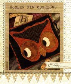 Woolen Pincushion-October