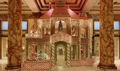 Life size gingerbread house made with 1,600lbs of icing and TWO TONS of candy is every child's dream