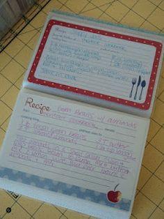 Recipe Book from Small Picture Album - Gift Idea
