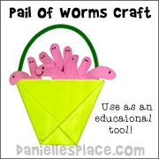 Pail of Worms Bible Craft from www.daniellesplace.com