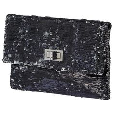 Mossimo Sequin Turnlock Flap Clutch