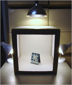 DIY Light box for taking pictures of your products, maybe for ebay or etsy...