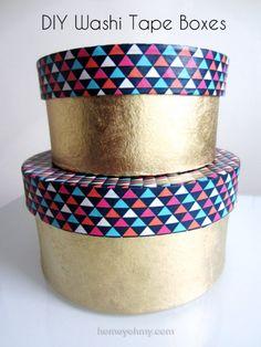 DIY Washi Tape Boxes