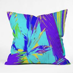 Rosie Brown Blue Palms 1 Throw Pillow | DENY Designs Home Accessories #art #throw #pillow #homedecor #abstract #denydesigns