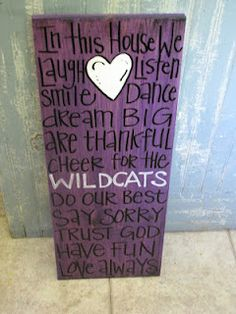 crafts for a show, idea, country art projects, art wildcats, blue