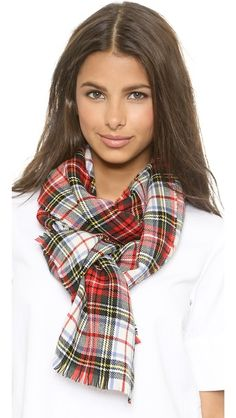 perfect tartan scarf - holiday gift guide