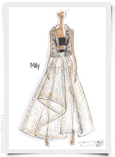 NYFW Designer Sketches Spring 2015 (Part 2), Milly