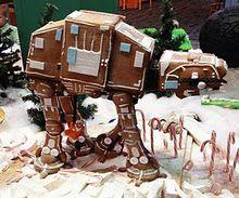 Gingerbread At-At. So fun.