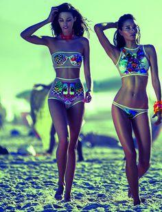 Blue Man Swimwear 2014, photo by Zee Nunes swimsuit, blue man swimwear, bikini, beach