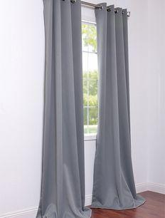 Grommet Neutral Grey Blackout Curtains & Drapes