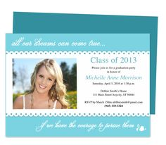 Graduation Announcements Templates : Printable DIY Isabelle Graduation Party Announcement Template with photo
