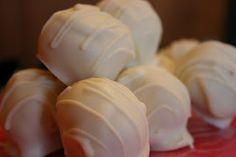 Pumpkin cake balls... I had some last night and they were SO amazing!!! I don't even like cake balls that much