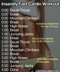 four minute workout!
