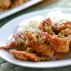 This healthy General Tso Chicken is baked, not fried.
