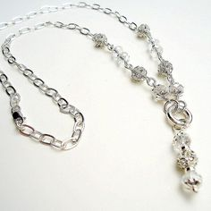 Crystal Necklace Sterling Silver