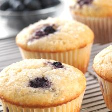 Gluten-Free Blueberry Muffins made with baking mix: King Arthur Flour