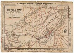 Bicycle Map of Montreal, 1897
