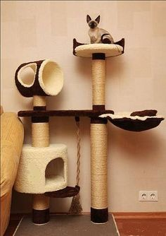 Cosas de gatos on pinterest - Muebles con troncos ...