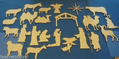 Nativity Manger Scenes Unfinished Flat Wood Ornament Shapes Cut Outs NS1225 | eBay