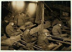 Pennsylvania Breakers - Heart-Breaking Pictures of Child Labour In USA by Lewis Hine The dust was so dense at times as to obscure the view. This dust penetrates the utmost recess of the boy's lungs. Location: South Pittston, Pennsylvania.