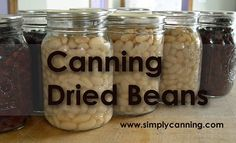 Canning Dried Beans, pinto, black, navy and more. http://www.simplycanning.com/canning-dried-beans.html