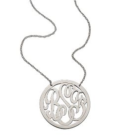 West Avenue Jewelry medium circle monogram necklace.  I would love this!