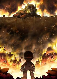 Attack on titan Bowser by *SuperCaterina on deviantART