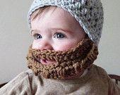 PDF Pattern for Crochet Bearded Beanie / Beard is Detachable by KraftyShack on Etsy, $4.99 USD