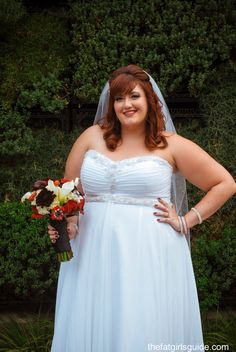plus size bride in Alfred Angelo