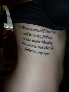 I LOVE quote tattoos!