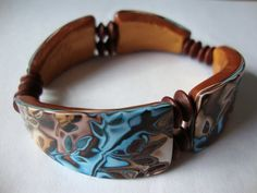 Bracelet by Beads from the Coast, via Flickr  Nice project using two different artist's tutorials - nicely shaped beads.