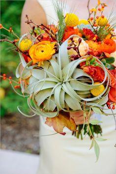 Air plant bouquet by Hana Style Designs. #wchappyhour #weddingchicks http://www.weddingchicks.com/2014/07/16/wedding-chicks-happy-hour-28/