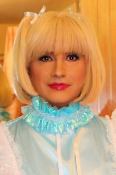 The perfect little sissy maid in her blue sissy collar, so cute.