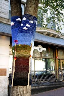 Wires & Yarns: Yarn Bombing