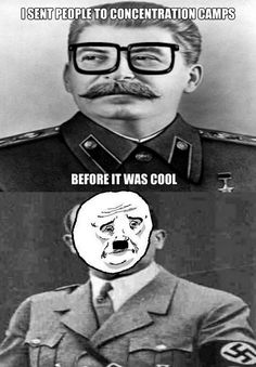 The West decided that hating Hitler was more fashionable. #funnysad
