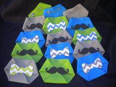48pc Baby Shower Dirty Diaper Game Little Man Chevron Bow tie Mustache Theme