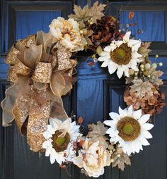 Fall Wreath Autumn Wreath Thanksgiving Wreath
