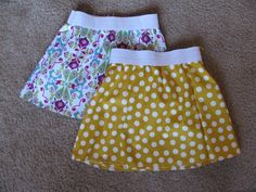 Easy Beginner Sewing Project: Elastic Waist Skirt. It has instructions for custom measurements!