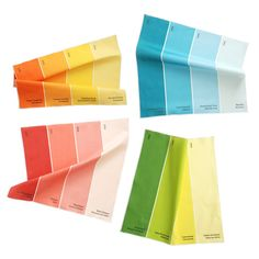 paint chip napkins