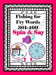 Fishing for Fry Words 301-400 from Andrea'sArtifacts on TeachersNotebook.com -  (38 pages)  - Fish for 301-400 Fry words with these fun, spin and say spinners!