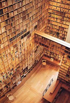 Library in the Ryotaro Shiba Museum, Tadao Ando.