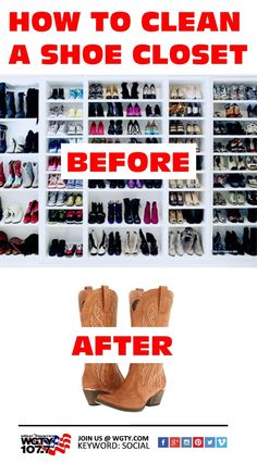 Too much footwear in your closet? This is how you clean it out.