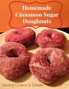 Second Chance to Dream:  Homemade Cinnamon Sugar Doughnuts  a $2.00 Fall treat #fall