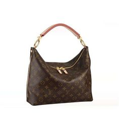 Cheap And Fine Louis Vuitton Sully PM Brown Top Handles at Discount Price!