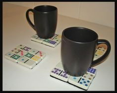 Dominoes drink coasters