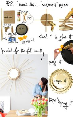 DIY sunburst mirror #mirror